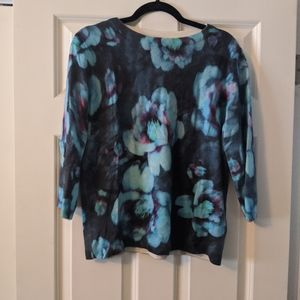 Talbot's pure cashmere floral sweater